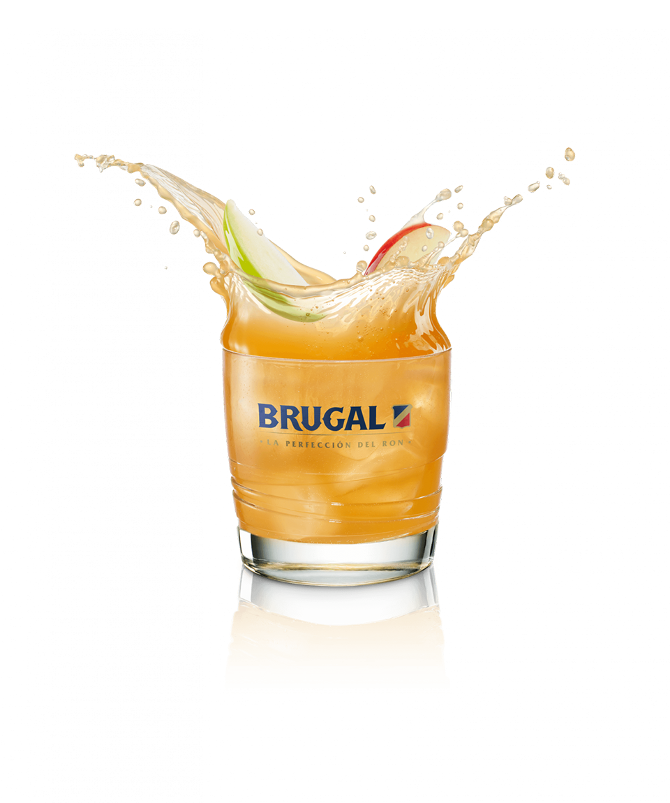 Brugal XV Cloudy Apple Juice and Lime