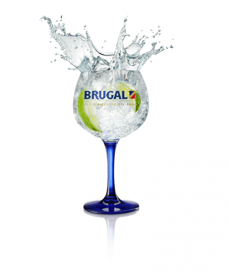 Brugal Blanco Supremo Tonic and Lime